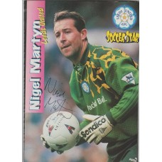 Signed picture of Nigel Martyn the Leeds United footballer