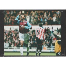 Signed photo of Nolberto Solano the West Ham United footballer.