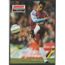 Signed picture of Nolberto Solano the Aston Villa footballer.