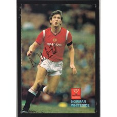 Signed picture of Manchester United footballer Norman Whiteside.