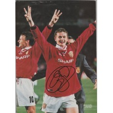 Signed picture of Ole Gunnar Solskjaer the Manchester United footballer