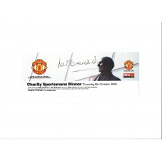 Signed guest of Honour ticket by Manchester United footballer Paddy Crerand