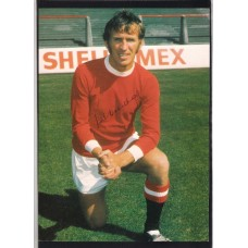 Signed picture of Pat Crerand the Manchester United footballer.