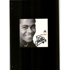 Patrick Kluivert signed Adidas sponsor card. SORRY SOLD