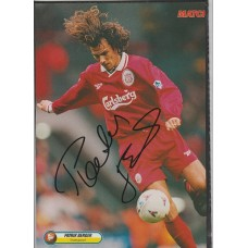Signed picture of Patrik Berger the Liverpool footballer