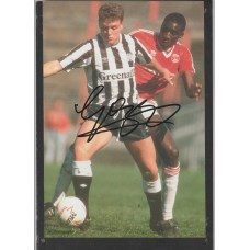 Signed picture of Paul Gascoigne the Newcastle United footballer
