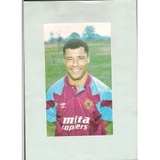 SALE: Signed picture of Paul McGrath the Aston Villa footballer.