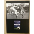 Signed picture of Paul Reaney the Leeds United footballer.