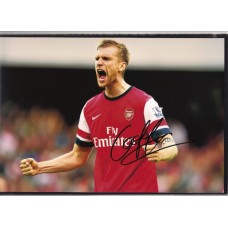 Signed photo of Per Mertesaker the Arsenal footballer.