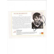 Signed picture of Peter Beardsley the Manchester United footballer