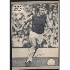Signed picture of Peter Eustace the West Ham United footballer