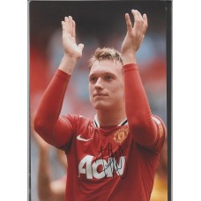 Signed photo of Phil Jones the Manchester United footballer.