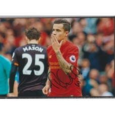 Signed photo of Philippe Coutinho the Liverpool footballer.