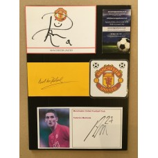 Signed card by Rafael da Silva the Manchester United footballer