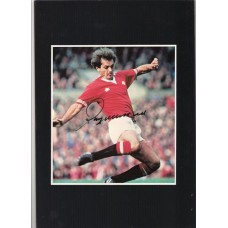 Signed picture of Manchester United footballer Ray Wilkins.