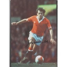 Signed photo of Manchester United footballer Ray Wilkins.