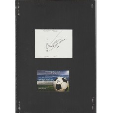 Signed card by Reagan Poole the Manchester United footballer.