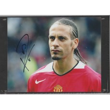Signed photo of Rio Ferdinand the Manchester United footballer.
