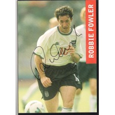 Signed action picture of the England footballer Robbie Fowler