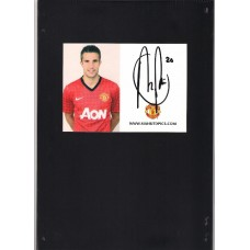 Robin Van Persie signed official Manchester United photocard