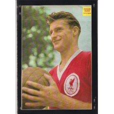 Signed picture of the former Liverpool footballer Roger Hunt.