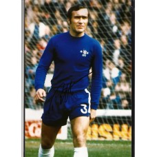 Signed photo of Ron Harris the Chelsea footballer.