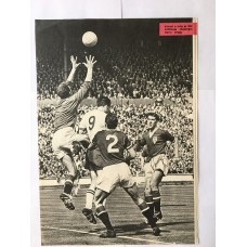 Signed picture of RONNIE COPE the Busby Babe & MANCHESTER UNITED footballer.