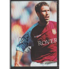 Signed picture of Ronny Johnsen the Aston Villa footballer.