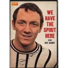 Signed picture of Roy Barry the Dunfermline footballer