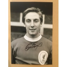 Signed photo of Roy Evans the Liverpool footballer.