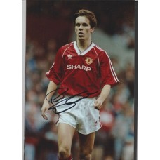 Signed photo of Russell Beardsmore the Manchester United footballer.