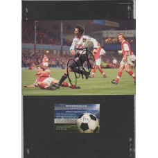 Signed picture of Ryan Giggs the Manchester United footballer.