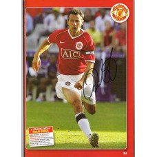 Signed picture of the Manchester United legend Ryan Giggs.