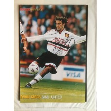 Signed picture of Ryan Giggs the Manchester United footballer