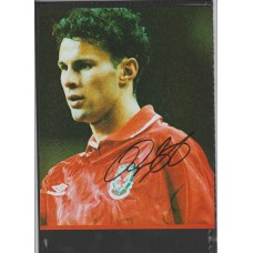 Signed picture of Manchester United & Wales footballer Ryan Giggs