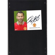 Ryan Giggs signed Official Manchester United card