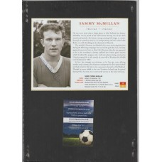 Signed picture of Sammy McMillan the Manchester United footballer
