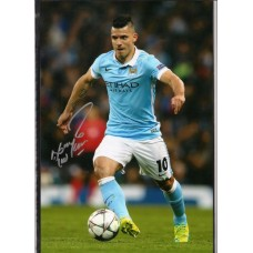 SALE: Signed photo of Sergio Aguero Manchester City footballer.