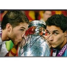 Signed photo of Sergio Ramos the Spain footballer.