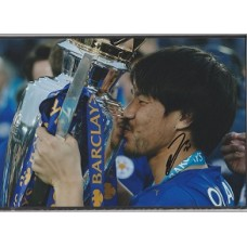 SALE: Signed photo of Shinji Okazaki the Leicester City footballer.