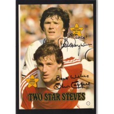 Signed picture by Steve Coppell (Man United) & Steve Perryman (Spurs)