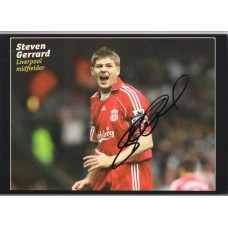 World Cup: Signed picture of Steven Gerrard the Liverpool footballer.