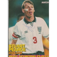 Signed picture of Stuart Pearce the England footballer.