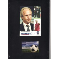 Signed official England card by England manager Sven-Göran Eriksson. SORRY SOLD!