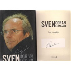 Signed book by former England football manager Sven-Göran Eriksson.