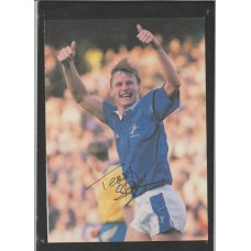 Signed picture of Teddy Sheringham the Millwall footballer