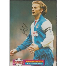 Signed picture of Tim Sherwood the Blackburn Rovers footballer.
