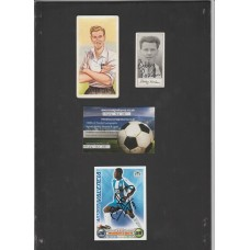 Signed CHIX bubble gum card of Tom Finney the Preston North End Footballer.