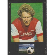 Signed picture of Tony Woodcock the Arsenal footballer.