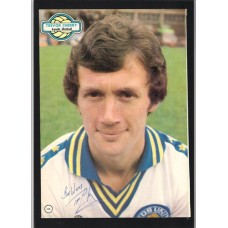 Signed picture of Leeds United footballer Trevor Cherry.